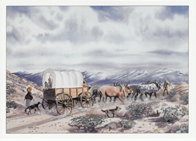OREGON TRAIL NOTE CARDS