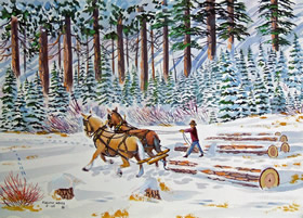 WINTER SCENES NOTE CARDS